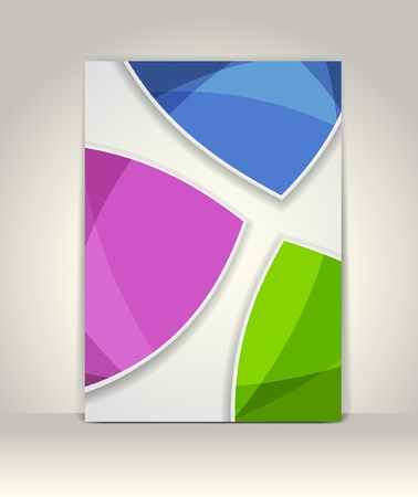 Flyer or brochure template, abstract colorful design Stock Vector - 18848936