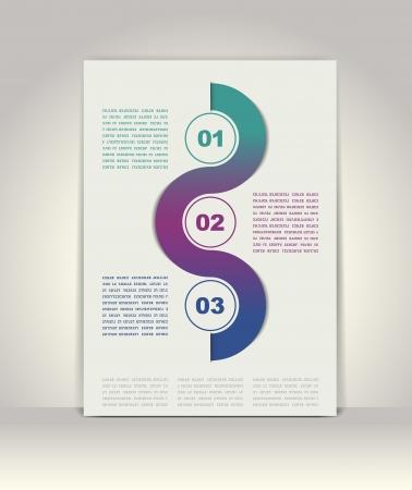 Modern infographics template Reklamní fotografie - 18848950
