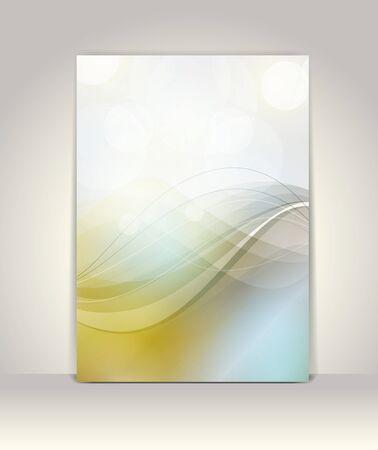 presentation folder: Flyer or brochure template, abstract design