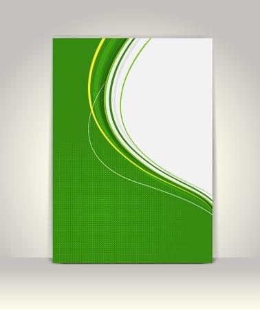 presentation folder: Flyer or brochure template, abstract colorful design