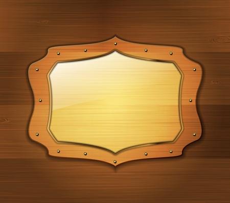 Wooden banner Vector