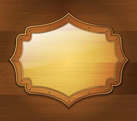 Wooden banner Stock Vector - 20709072