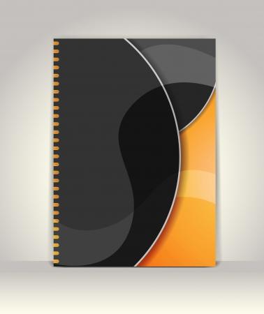 Flyer of brochure sjabloon, abstract ontwerp Stock Illustratie