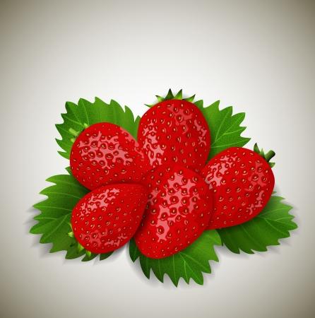 jams: strawberries with leaves
