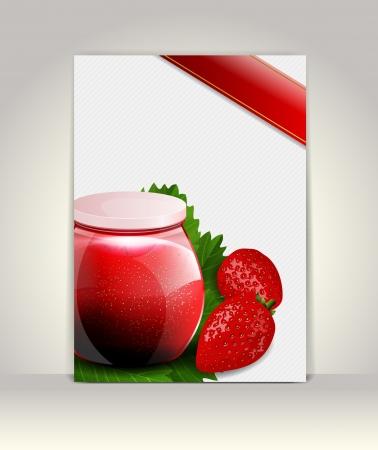 ccloseup: Flyer or brochure template, strawberry design