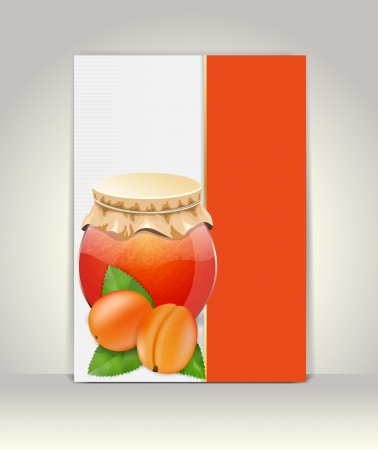 apricot jam: Flyer or brochure template,apricot design Illustration
