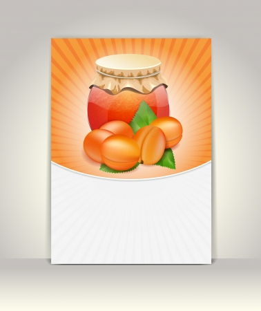 confiture: Flyer or brochure template,apricot design Illustration