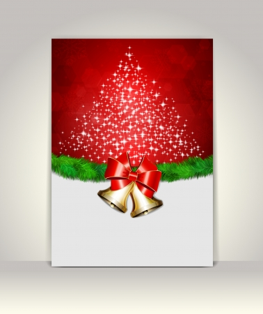 Greeting template, Merry Christmas and Happy New Year Vector