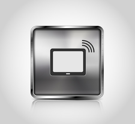 wireless connection: Metal icon, wireless connection