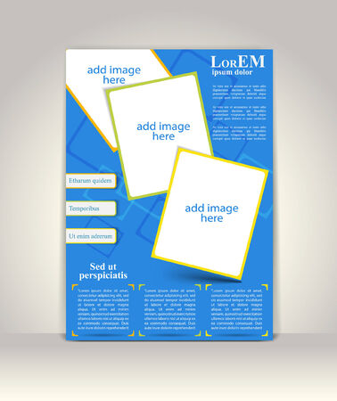 brochure layout: Flyer, brochure or magazine cover template