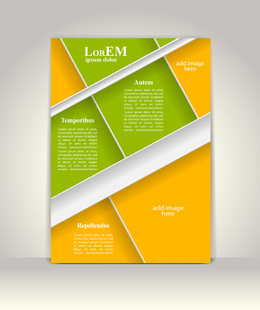 knowledge business: Flyer, brochure or magazine cover template