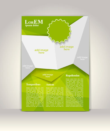 magazine design: Flyer, brochure or magazine cover template