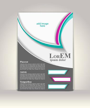 presentation folder: Flyer, brochure or magazine cover template