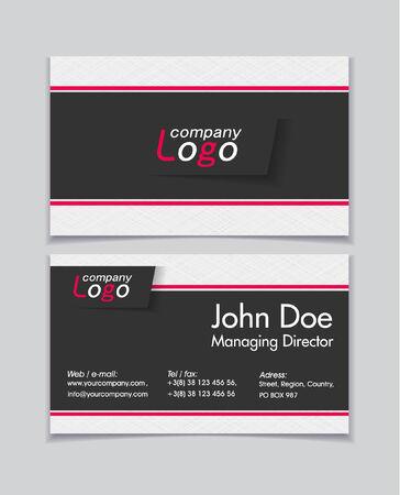 namecard: Business cards Illustration