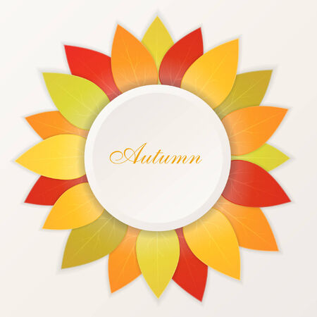 Autumn leaves abstract vector background Vector