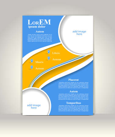 print media: Flyer, brochure or magazine cover template