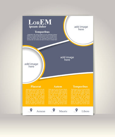 Flyer, brochure or magazine cover template Vector