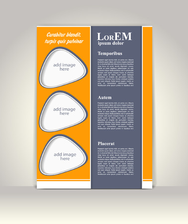 background information: Flyer, brochure or magazine cover template