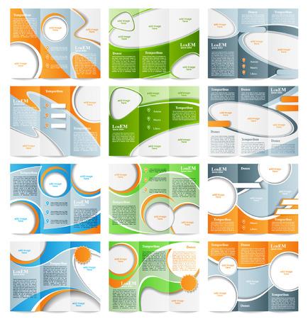 Set van Tri-fold brochure sjabloon