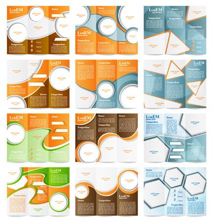 brochure: Set of Tri-fold brochure template