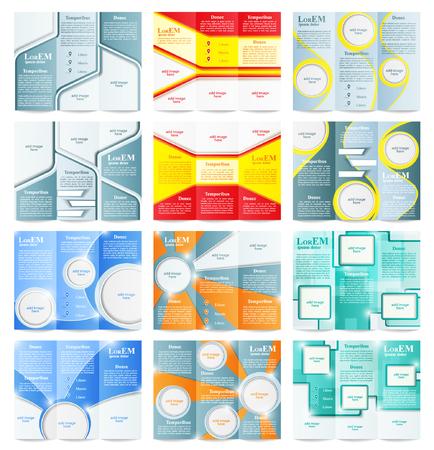 catalog templates: Set of Tri-fold brochure template