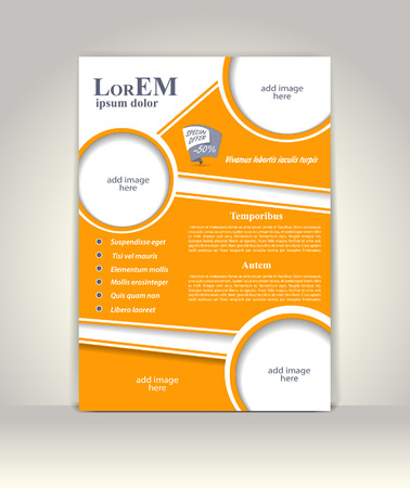 element template: Flyer, brochure or magazine cover template