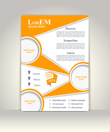 magazine: Flyer, brochure or magazine cover template
