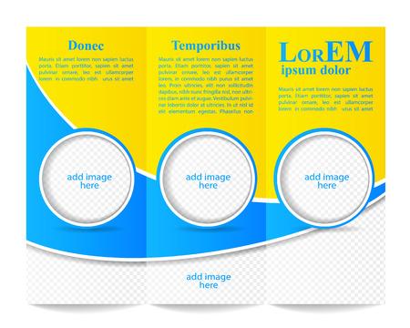 Tri-fold brochure template Illustration
