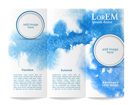 newsletter: Tri-fold brochure template Illustration