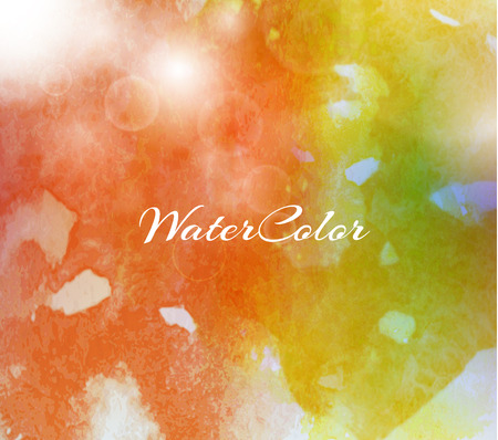 splotch: Abstract Background with Watercolor banner, vector illustration Illustration