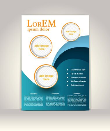 company background: Flyer, brochure or magazine cover template
