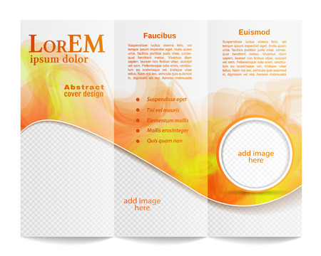 poster template: Tri-fold brochure template Illustration