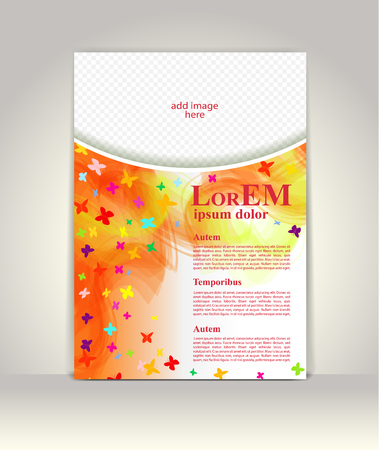 special education: Flyer brochure or magazine cover template