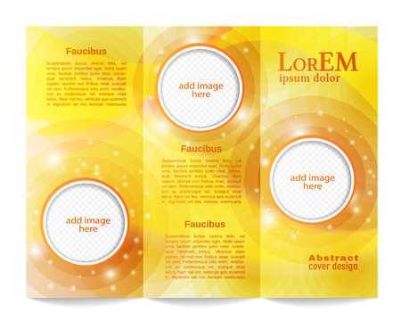 Tri-fold brochure template Illustration