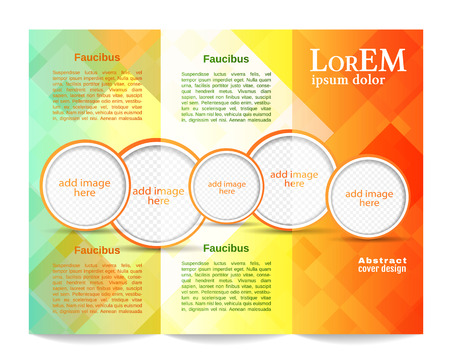 concepts and ideas: Tri-fold brochure template Illustration