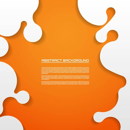 orange abstract: Abstract paper background, cutout curved elements on the orange background