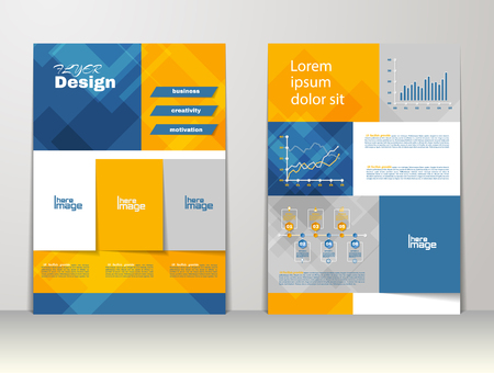 magazine cover: Flyer, brochure or magazine cover template