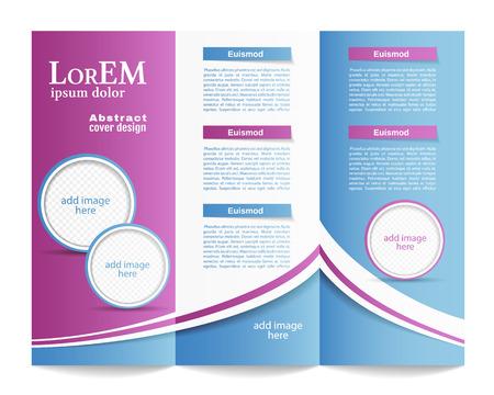 Tri-fold brochure template Ilustrace