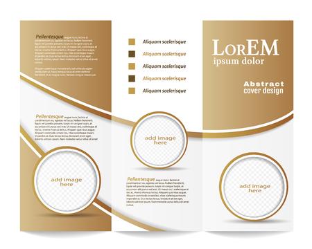 Tri-fold modèle de brochure