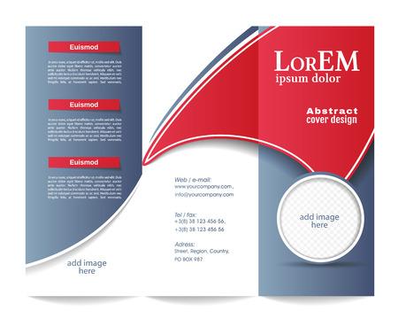conceptual: Tri-fold brochure template Illustration