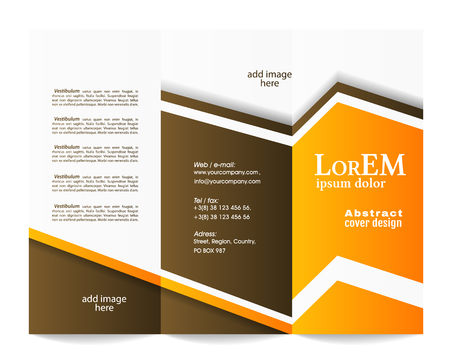 newsletter template: Tri-fold brochure template Illustration