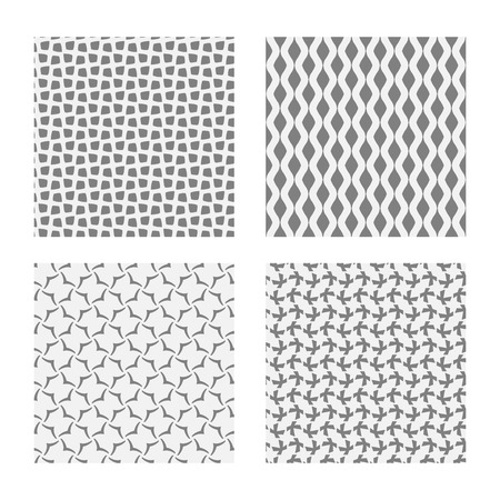 grey backgrounds: Seamless geometric patterns. Set of backgrounds in grey colors