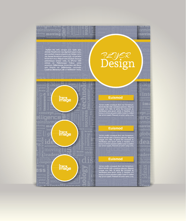 magazine cover: Brochure or magazine cover template