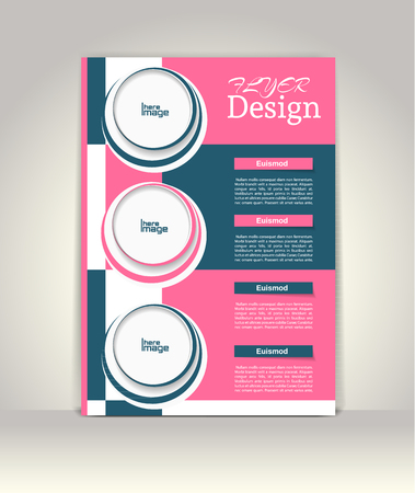 magazine template: Brochure or magazine cover template