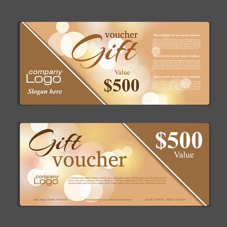 vouchers: Gift Voucher template Illustration