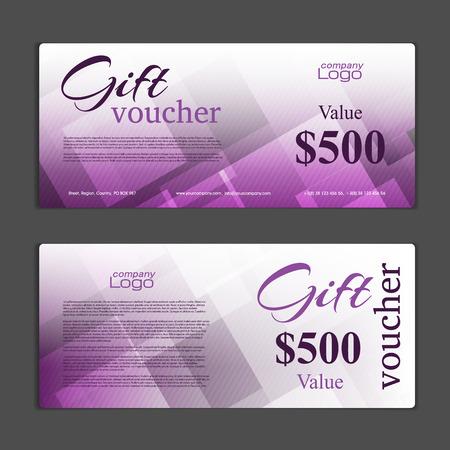 gift card: Gift Voucher template Illustration