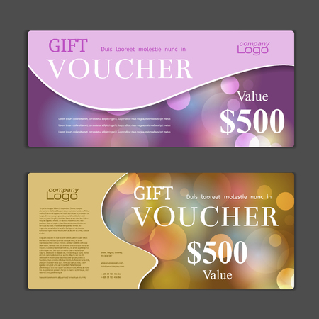gift tag: Gift Voucher template Illustration