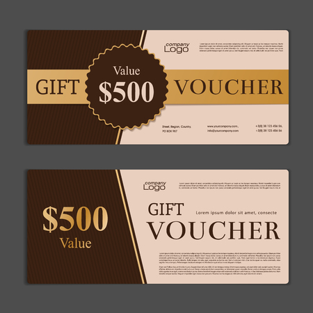 business background: Gift Voucher template Illustration
