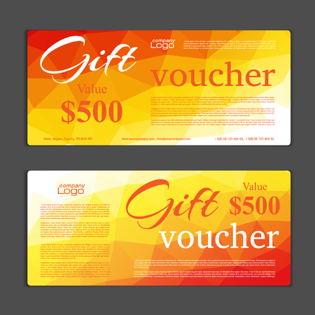 free backgrounds: Gift Voucher template Illustration