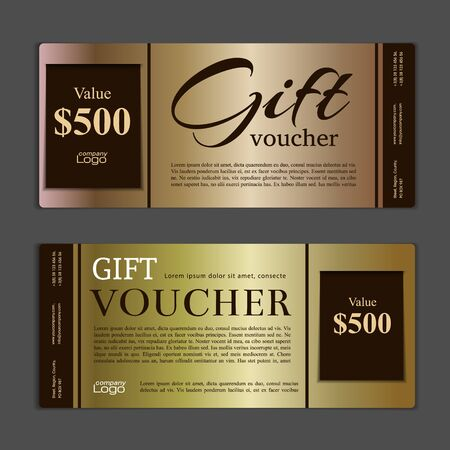 free gift: Gift voucher template. Can be use for shopping cards, discount coupon, discount card , web design and other. illustration. Abstract design